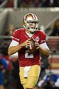San Francisco 49ers quarterback Blaine Gabbert (2) looks for a receiver against the Los Angeles Rams at Levi's Stadium in Santa Clara, Calif., on September 12, 2016. (Stan Olszewski/Special to S.F. Examiner)