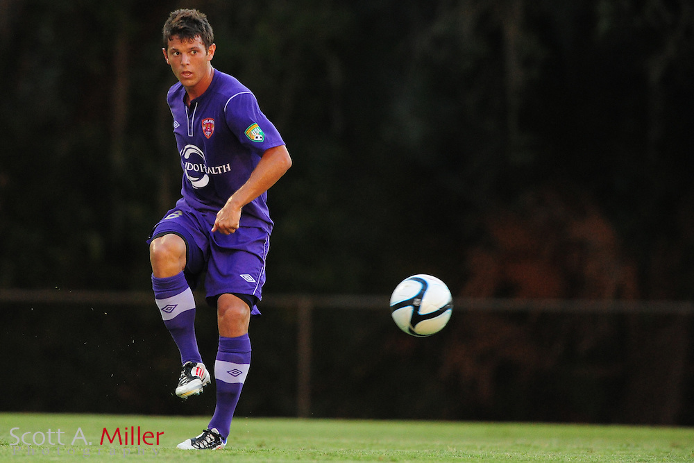 Orlando City's Erik Ustruck (8) in action during the Lions game against the Kansas City Athletics in their US Open Cup game at the Seminole Soccer Complex on May 22, 2012 in Sanford, Fla. ..©2012 Scott A. Miller.