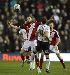 Middlesbrough's Adam Claytonwins a header - Photo mandatory by-line: Robbie Stephenson/JMP - Mobile: 07966 386802 - 17/03/2015 - SPORT - Football - Derby - iPro Stadium - Derby County v Middlesbrough - Sky Bet Championship