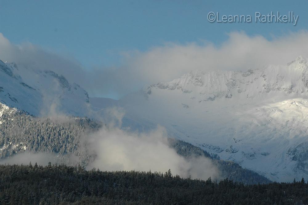 The Tantalus Mountain Range, near Squamish, BC in winter