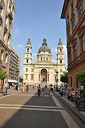 Eastern Europe, Hungary, Budapest, Exterior of the St. Stephen's Basilica