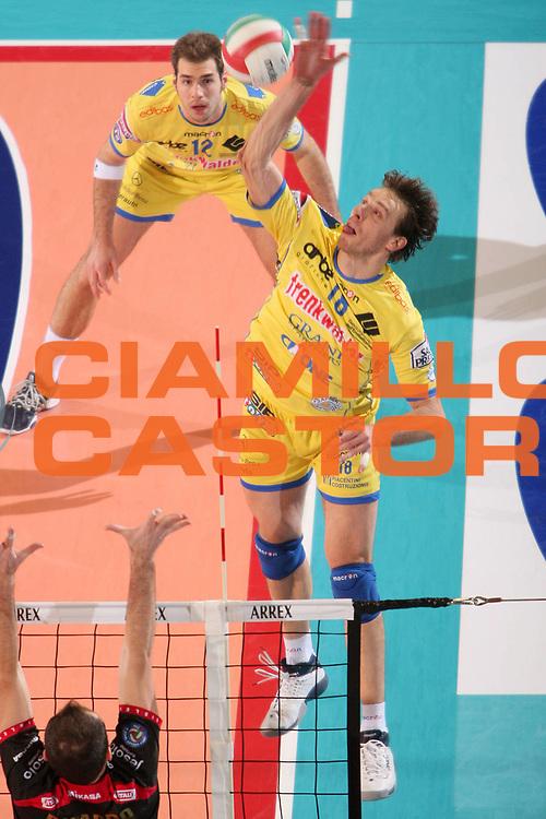 DESCRIZIONE : Treviso Lega Volley A1 2008-09 Sisley Treviso Trenkwalder Modena <br /> GIOCATORE : cristian casoli <br /> SQUADRA : Trenkwalder Modena <br /> EVENTO : Campionato Lega Volley A1 2008-2009<br /> GARA : Sisley Treviso Trenkwalder Modena <br /> DATA : 10/01/2009 <br /> CATEGORIA : Schiacciata<br /> SPORT : Pallacanestro <br /> AUTORE : Agenzia Ciamillo-Castoria/S.Silvestri <br /> Galleria : Lega Volley A1 2008-2009 <br /> Fotonotizia : Treviso Campionato Italiano Lega A1 2008-2009 Sisley Treviso Trenkwalder Modena <br /> Predefinita :