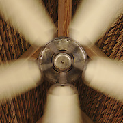 A French colonial-style ceiling fan at the Evason Hideaway in Nha Trang, Vietnam.