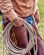 The rope or lariat is the cowboys most effective working tool when it comes to controlling cattle.