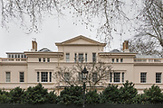 """London, England, UK, February 4 2018 - 17 Kensington Palace Gardens, home of Russian-Israeli  billionaire Roman Abramovich . Kensington Palace Gardens is also called """"billionaire's row"""" , as the most expensive address in Britain, with a average price for a mansion of £35. million."""