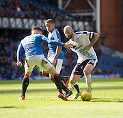 Dundee&rsquo;s Gary Harkins squirms past Rangers&rsquo; Rob Kiernan- Rangers v Dundee, William Hill Scottish Cup quarter final at Ibrox Park<br /> <br />  - &copy; David Young - www.davidyoungphoto.co.uk - email: davidyoungphoto@gmail.com
