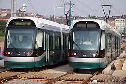 Tram system near Wilkinson Street; Nottingham,