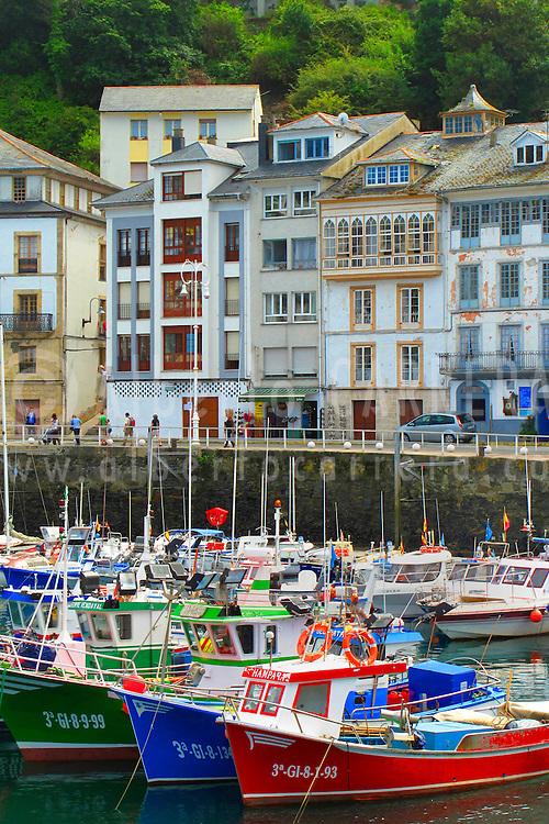 Alberto Carrera, Fishing boats, Luarca´s boat harbour, Fishing port, Luarca, Asturias, Spain, Europe