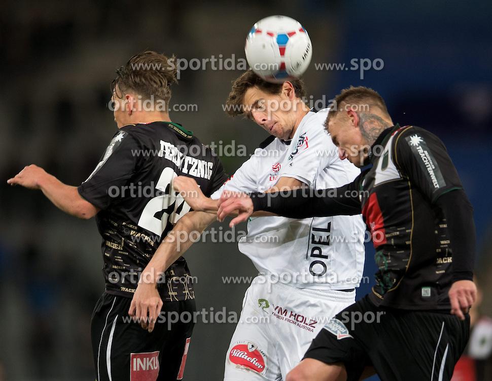 05.04.2014, Tivoli Stadion, Innsbruck, AUT, 1. FBL, FC Wacker Innsbruck vs RZ Pellets WAC, 31. Runde, im Bild (v.l.) Christopher Wernitznig (Innsbruck), Christain Falk (WAC) und Zeljko Djokic (Innsbruck) // (v.l.) Christopher Wernitznig (Innsbruck), Christain Falk (WAC) und Zeljko Djokic (Innsbruck) during Austrian Football Bundesliga 31th round match between FC Wacker Innsbruck and RZ Pellets WAC at the Tivoli Stadion in Innsbruck, Austria on 2014/04/05. EXPA Pictures © 2014, PhotoCredit: EXPA/ Johann Groder