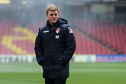 Bournemouth Manager Eddie Howe arrives at Vicarage Road - Mandatory byline: Jason Brown/JMP - 27/02//2016 - FOOTBALL - Vicarage Road - Watford, England - Watford v Bournemouth - Barclays Premier League