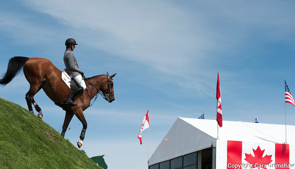ANDRES RODRIGUEZ (VEN) rides ARAGON VAN SCHUTTERSHOF in the 1.50m Derby Nexen Cup during National CSI 5* at Spruce Meadows presented by Rolex, June 7 2015. Calgary.