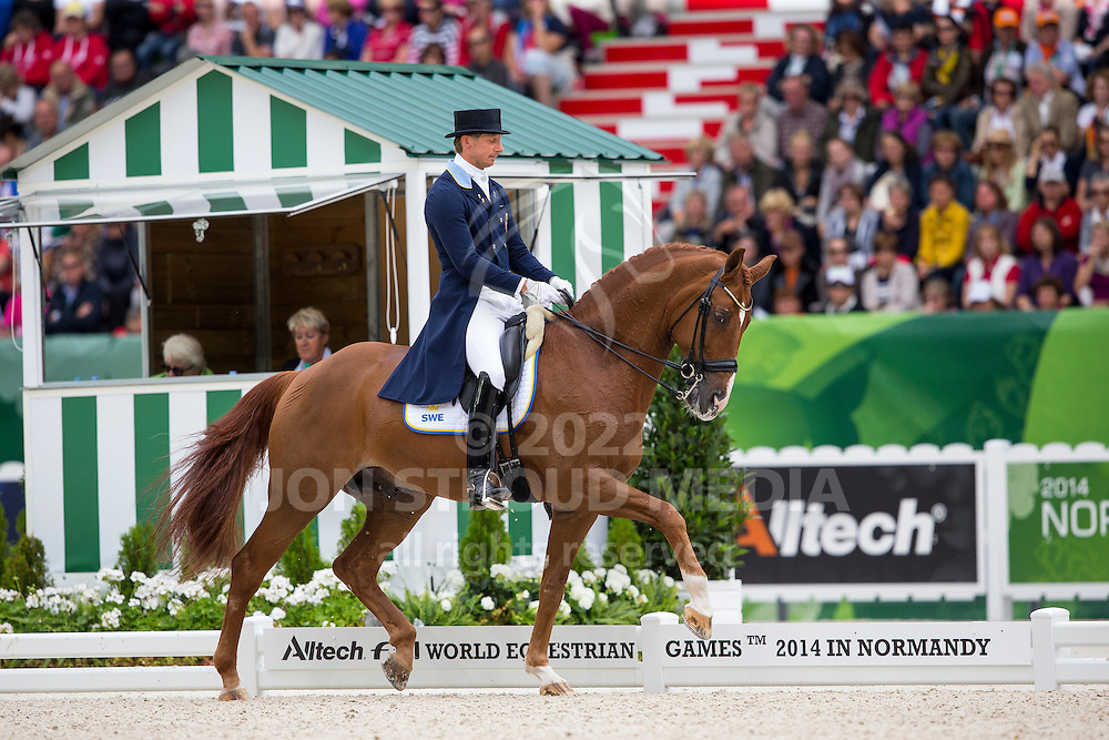 Patrick Kittel, (SWE), Watermill Scandic HBC - Grand Prix Special Dressage - Alltech FEI World Equestrian Games&trade; 2014 - Normandy, France.<br /> &copy; Hippo Foto Team - Leanjo de Koster<br /> 25/06/14
