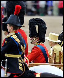The Queen and the Duke of Edinburgh watch the  Queen's Trooping of the Colour, The Queen's Birthday Parade, on Horse Guards Parade, Saturday June 16, 2012. Photo by Andrew Parsons/i-Images..All Rights Reserved ©Andrew Parsons/i-Images .See Special Instructions