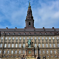 Christiansborg Palace in Copenhagen, Denmark <br />