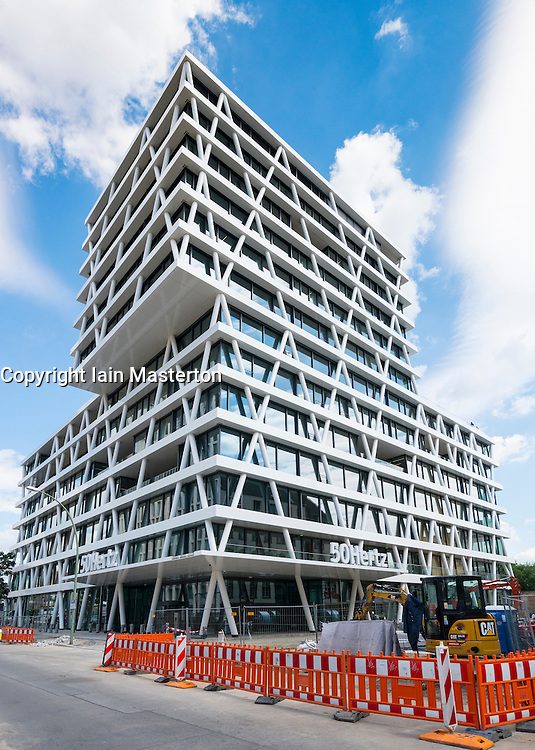 View of new headquarters of 50Hertz power company under construction in new Europacity property development in Berlin Germany