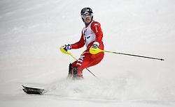 27.01.2015, Planai, Schladming, AUT, FIS Skiweltcup Alpin, Schladming, 2. Lauf, im Bild Giuliano Razzoli (ITA) // Giuliano Razzoli (ITA) during the second run of the men's slalom of Schladming FIS Ski Alpine World Cup at the Planai Course in Schladming, Austria on 2015/01/27, EXPA Pictures © 2015, PhotoCredit: EXPA/ Erwin Scheriau