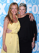 Kat Deeley and Mia Michaels pose at the Fox 2010 Upfronts after-party at Wollman Rink in New York City on May 17, 2010...