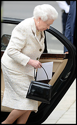 HM The Queen arrives at  The London Clinic to visit her Husband The Duke of Edinburgh in hospital at The London Clinic in London, on his 92nd BirthdayMonday, 10th June 2013<br /> Picture by Andrew Parsons / i-Images