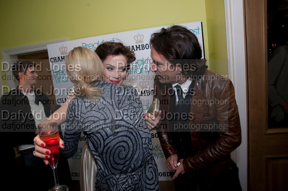 ANNA FRIEL; BEN CHAPLIN, The afterparty following the press night of 'Breakfast At Tiffany's' The Swimming pool,  Haymarket Hotel, London. September 29  2009.