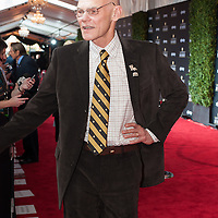 James Carville posing at the Mahalia Jackson Theatre NFL Honors in New Orleans, Louisiana on Feb.2 2013.