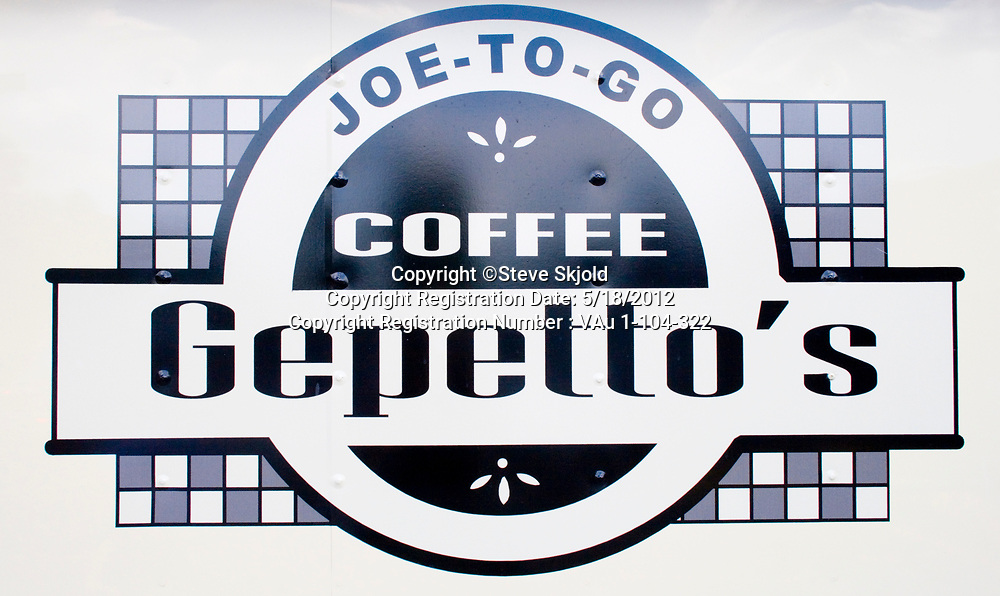 Sign for Gepetto's coffee. Minnesota State Fair St Paul Minnesota MN USA