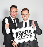 The BRIT Awards 2016. Ant and Dec