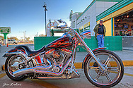 """You will find Jon and his bike """"The Ghost"""" at Fran Haasch's booth most Wednesdays at Quaker Steak."""