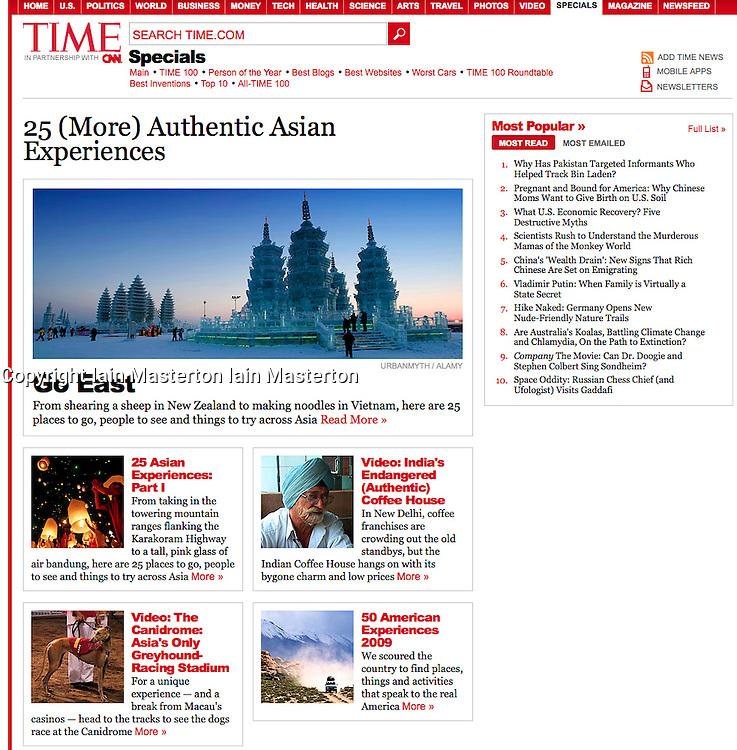 Time magazine; image of Harbin ice festival