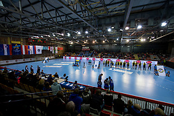 Sports hall Kodeljevo during handball match between RK Krim Mercator and Rostov-Don in Main Round of Women's EHF Champions League 2017/18, on March 3, 2018 in Sports hall Kodeljevo, Ljubljana, Slovenia. Photo by Urban Urbanc / Sportida