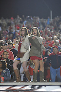 Mississippi fans dance and celebrate a win over LSU at Vaught-Hemingway Stadium in Oxford, Miss. on Saturday, October 19, 2013. Mississippi won 27-24. (AP Photo/Oxford Eagle, Bruce Newman)