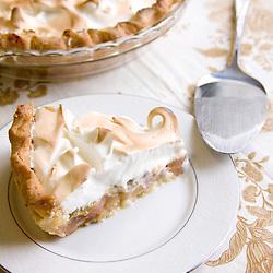 Rhubarb meringue pie.