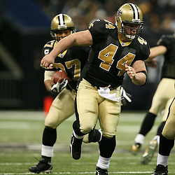 2007 December, 16: New Orleans Saints FB Mike Karney (44) leads the way for running back Aaron Stecker (27) during a 31-24 win by the New Orleans Saints over the Arizona Cardinals at the Louisiana Superdome in New Orleans, LA.