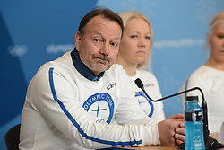 February 8, 2018 - Pyeonchang, Republic of Korea - Coach ANTTI LEPPAVUORI of the Finnish biathlon team at a press conference prior to the start of the 2018 Olympic Games (Credit Image: © Christopher Levy via ZUMA Wire)