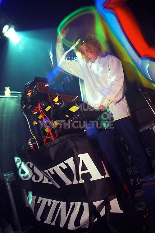 Man djing at a rave, 12/4/1997, DOUGAL PLEASUREDOME