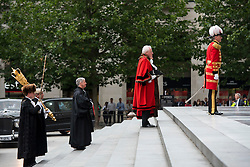 © Licensed to London News Pictures. 07/07/2015. London, UK. A church service held at St Paul's Cathedral In London on the 10th anniversary of the 7/7 bombings in London which killed 52 civilians and injured over 700 more.  Photo credit: Ben Cawthra/LNP