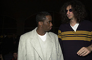 Sean Combs & Howard Stern. Page Six fashion week party hosted by Lachlan & Sarah Murdoch. Guastavino's. 409 E 59 St. NY. 9/2/00<br />