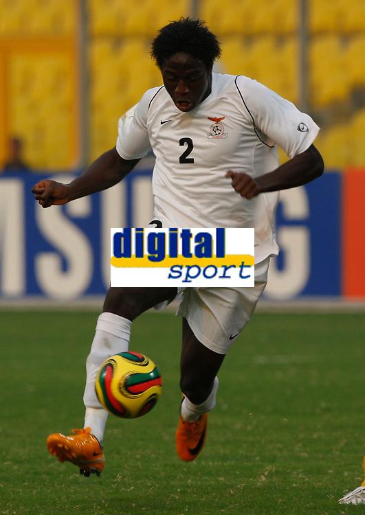 Photo: Steve Bond/Richard Lane Photography.<br />Cameroun v Zambia. Africa Cup of Nations. 26/01/2008. Jacob Mulenga moves forward