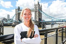 Emily Sisson shakeout run prior to racing the London Marathon