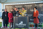 NICKY HENDERSON; BARRY GERAGHTY; MAURICE-RICHARD HENNESSY; PRINCESS ANNE, Hennessy Gold Cup, The Racecourse Newbury. 30 November 2013.