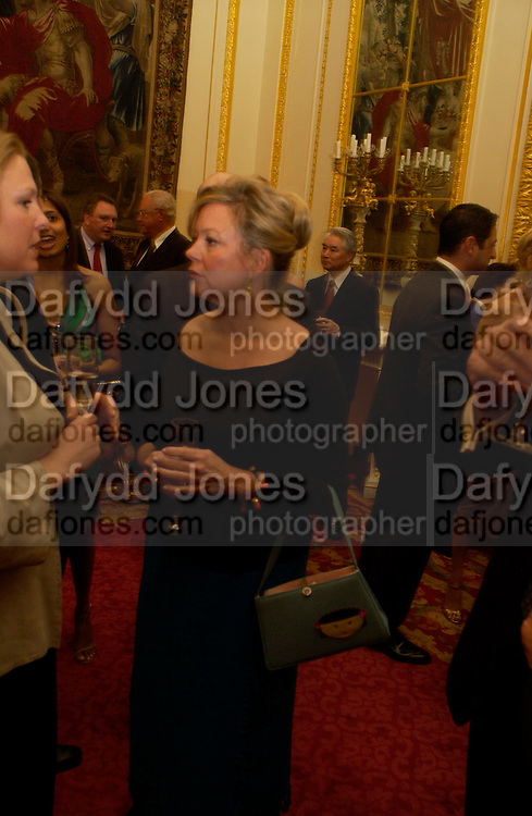 Kay Saatchi. Fashion show and dinner hosted by Shangri-la Hotels and Andy Wong featuring fashion by new designer Lu Kun held at The Goldsmiths Hall, Foster Lane, London on 25th April 2005ONE TIME USE ONLY - DO NOT ARCHIVE  © Copyright Photograph by Dafydd Jones 66 Stockwell Park Rd. London SW9 0DA Tel 020 7733 0108 www.dafjones.com