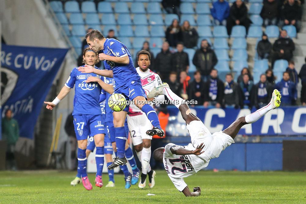 Cedric YAMBERE - 24.01.2015 - Bastia / Bordeaux  - 22eme journee de Ligue1<br /> Photo : Michel Maestracci / Icon Sport *** Local Caption ***