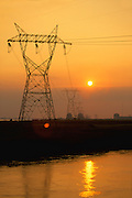 Electrical transmission towers.