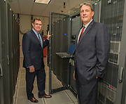 Houston ISD Superintendent Dr. Terry Grier, left, and Chief Technology Officer Lenny Schad, right, pose for a photograph in the HISD Data Center, September 4, 2013.