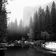 El Capitan in the fog, Yosemite National Park