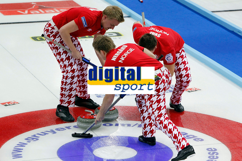 CURLING - EUROPEAN CHAMPIONSHIPS 2010 - CHAMPERY (sui) - 03 TO 11/12/2010 - PHOTO : GERARD BERTHOUD / DPPI - TEAM NORWAY