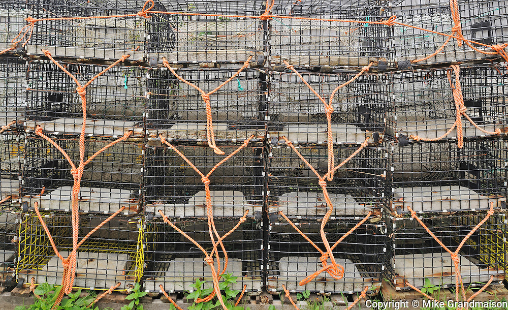 Lobster traps<br /> Grand Manan Island<br /> New Brunswick<br /> Canada