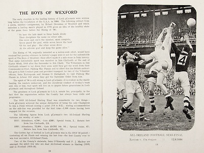 All Ireland Senior Hurling Championship Final, .Brochures, .23.09.1956, 09.23.1956, 23rd September 1956,.Wexford 2-14, Cork 2-8,.Minor Kilkenny v Tipperary, .Senior Cork v Wexford,.Croke Park,..Articles, The Boys of Wexford,