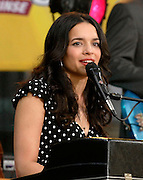 Norah Jones performs at the ABC Good Morning America Summer Concert Series in Bryant Park on Friday, July 6, 2007 in New York.