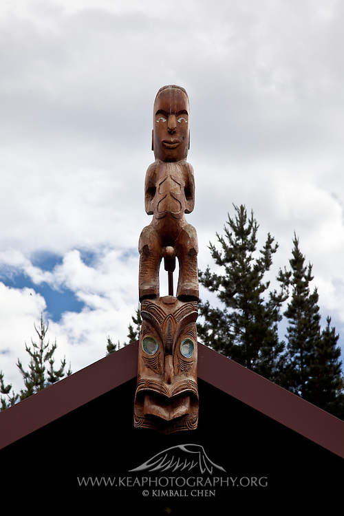 Maori carving, New Zealand