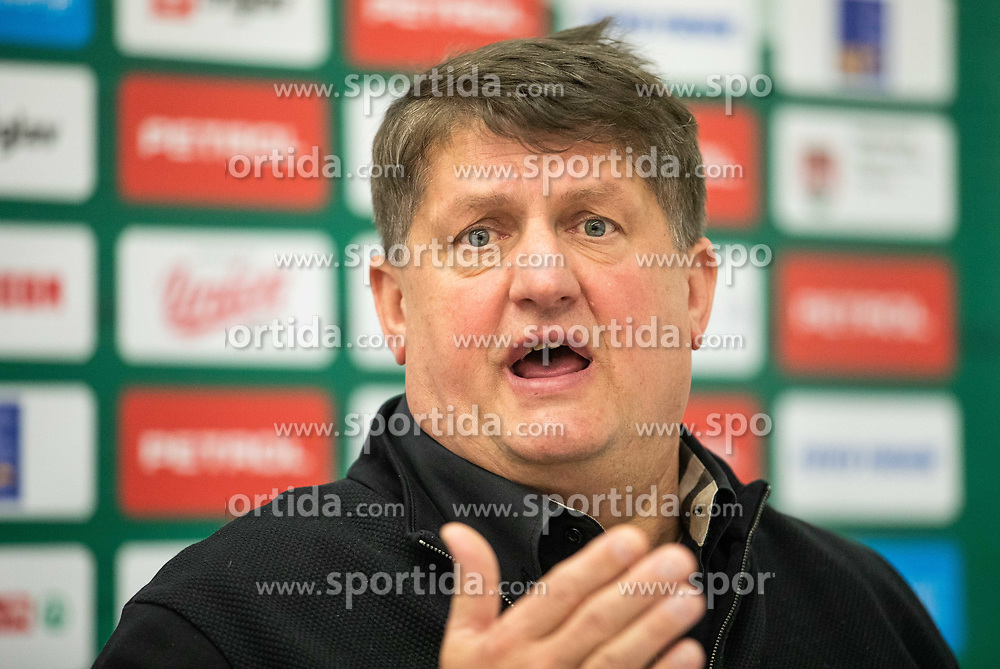 Roman Lisac when Zdovc was introduced as a new coach of KK Petrol Olimpija, on February 20, 2019 in Arena Stozice, Ljubljana, Slovenia. Photo by Vid Ponikvar / Sportida